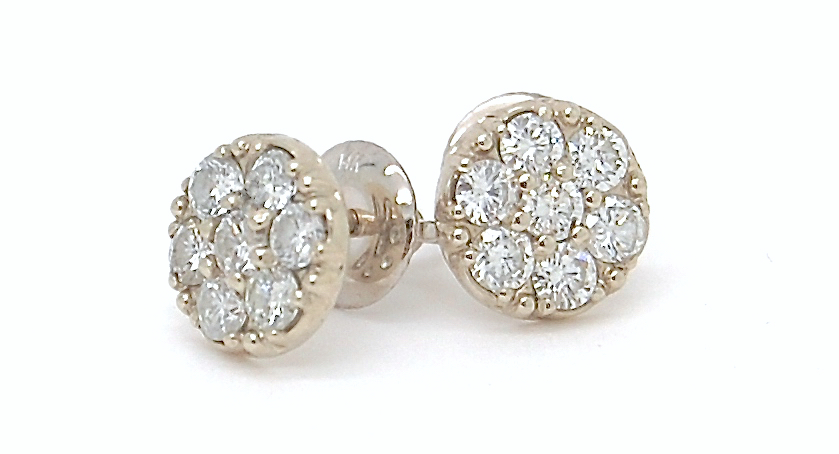 Star_14k and diamond stud earrings_POPPYOR