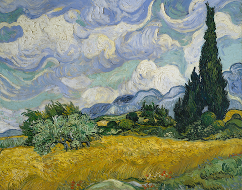 A Wheatfield with Cypresses_Van Gogh