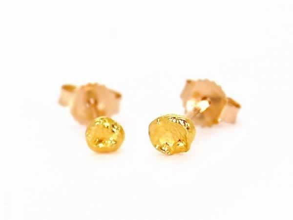 """Seed"" 24k Gold Stud Earrings"