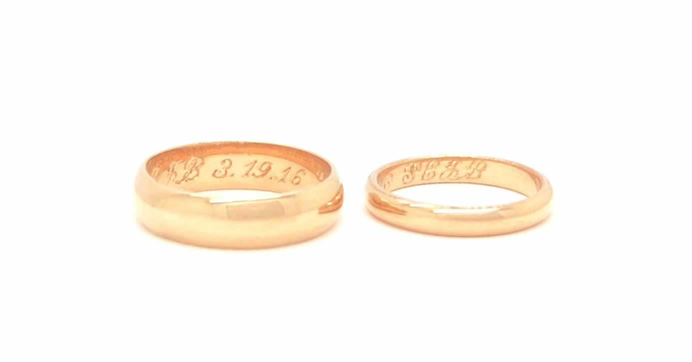 Angelic Hymn_18k gold Wedding Bands_POPPYOR Custom
