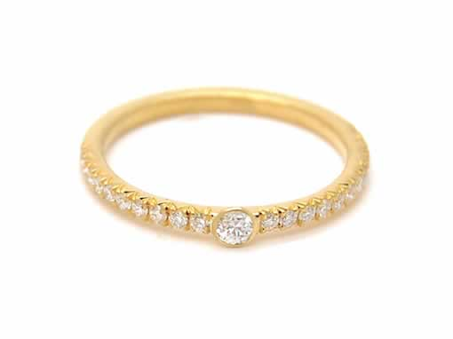 Inhale_Custom Engagement Ring Set_18k gold, diamonds__eternity ring_2_POPPYOR